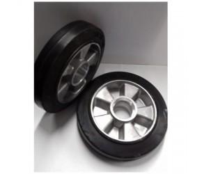 Pallet wheel steerable, Al-rubber, ? 180
